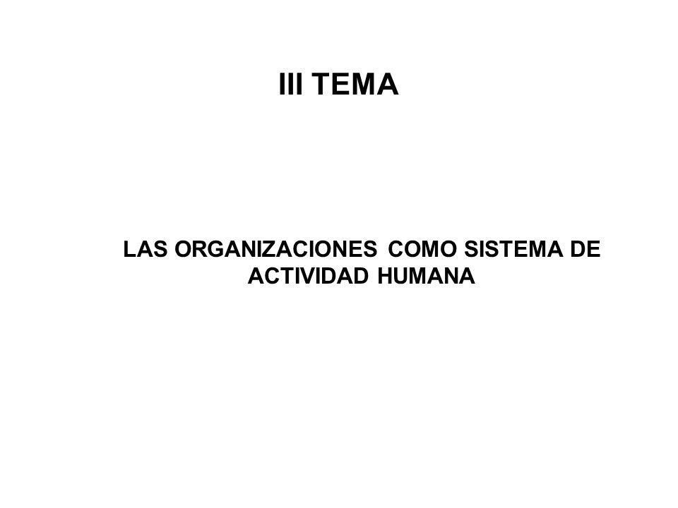 LAS ORGANIZACIONES COMO SISTEMA DE ACTIVIDAD HUMANA