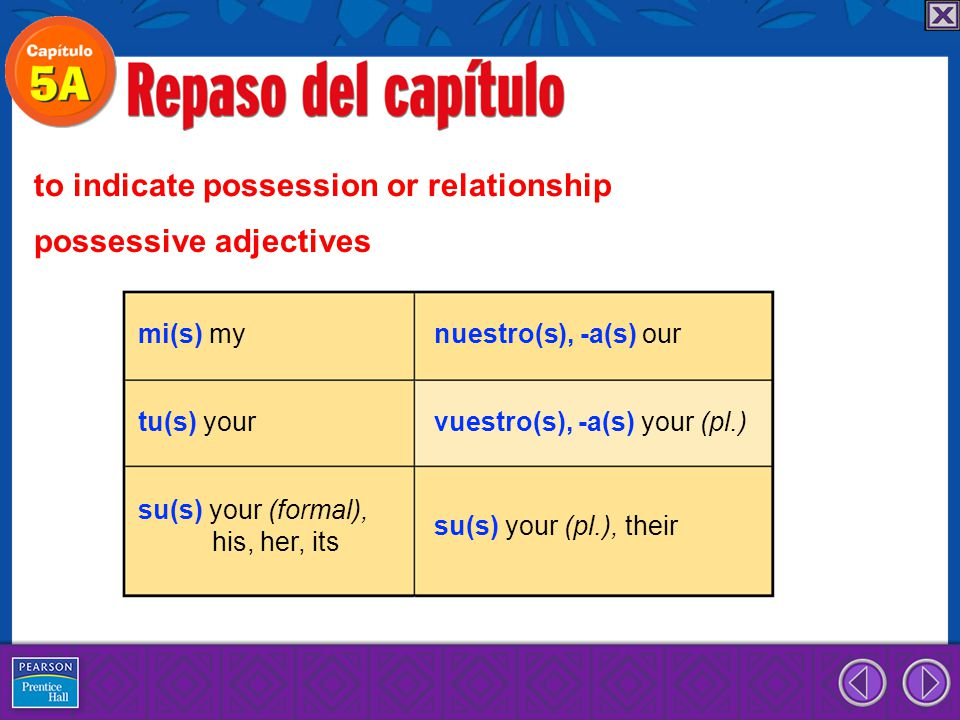 to indicate possession or relationship