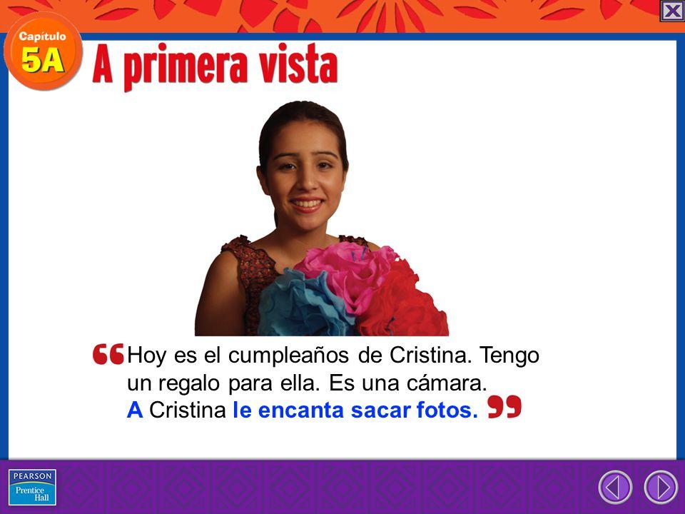 Hoy es el cumpleaños de Cristina. Tengo