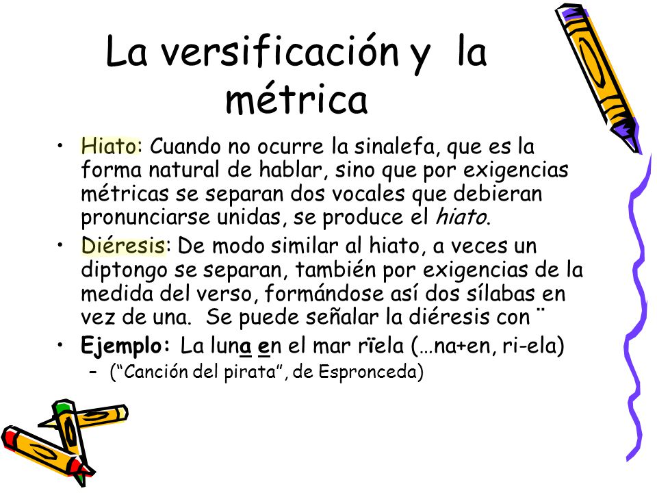 La versificación y la métrica