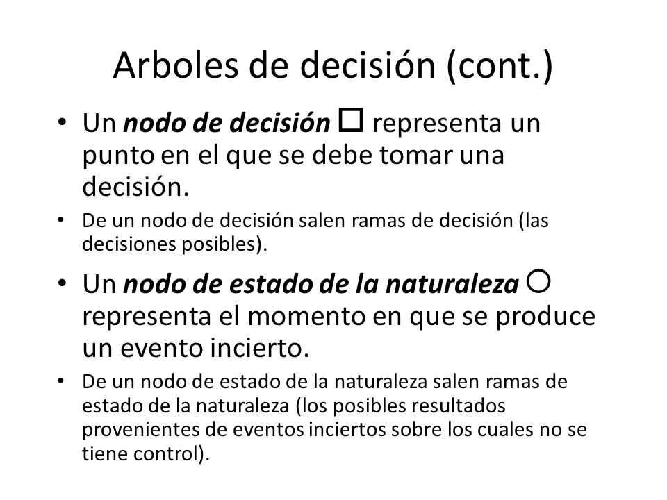 Arboles de decisión (cont.)