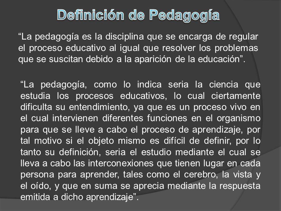 Definición de Pedagogía