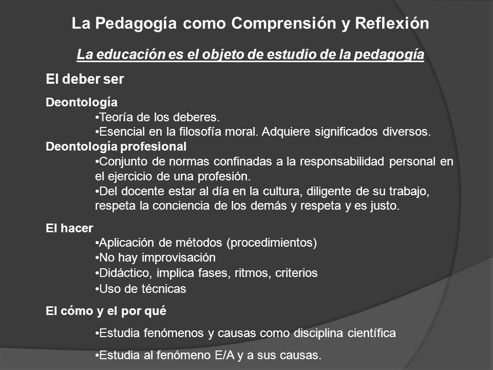 La Pedagogía como Comprensión y Reflexión