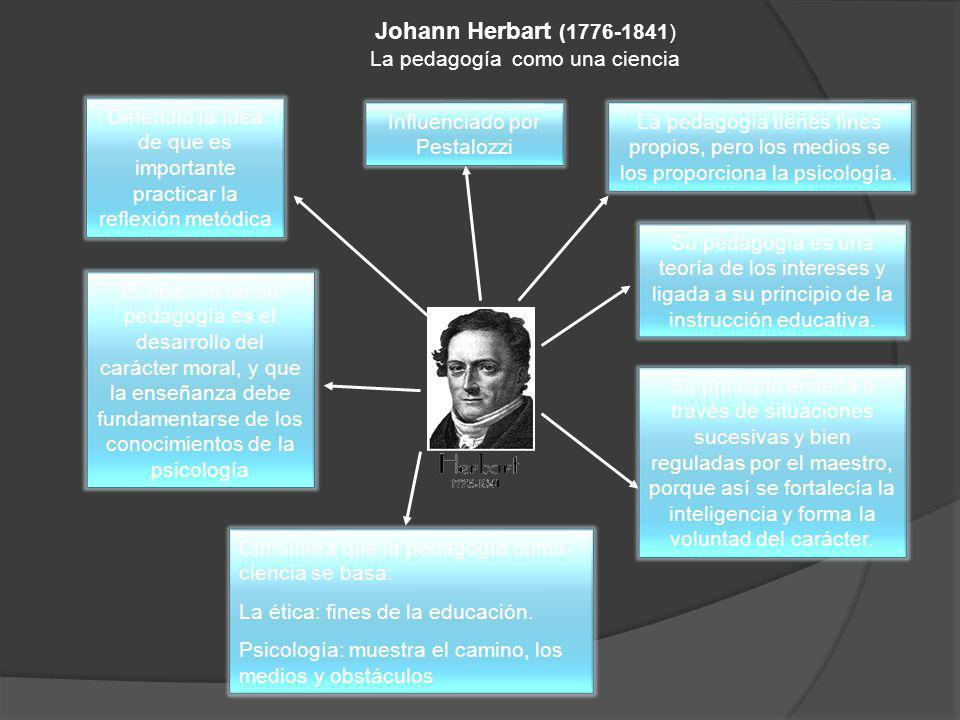 Johann Herbart (1776-1841) La pedagogía como una ciencia