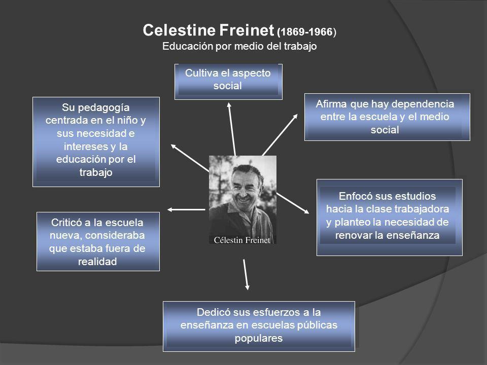 Celestine Freinet (1869-1966) Educación por medio del trabajo