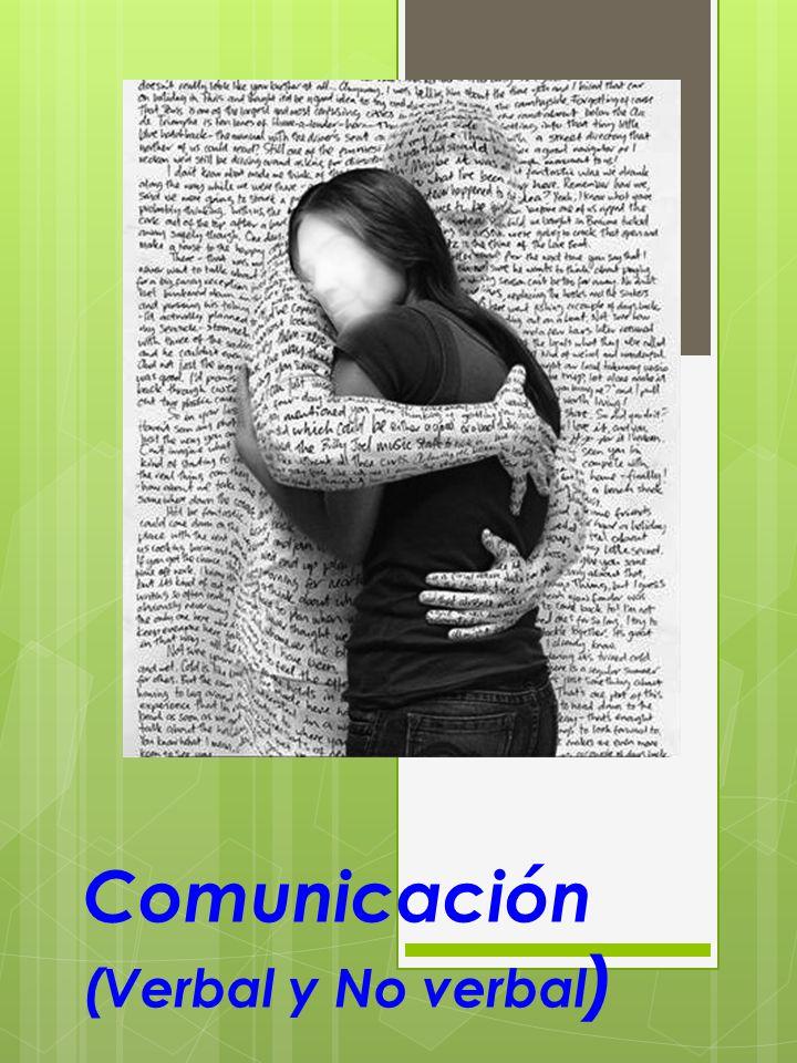 Comunicación (Verbal y No verbal)