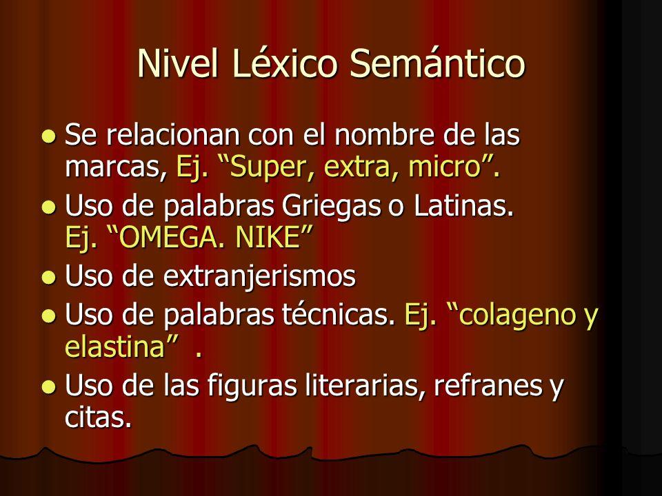 Nivel Léxico Semántico
