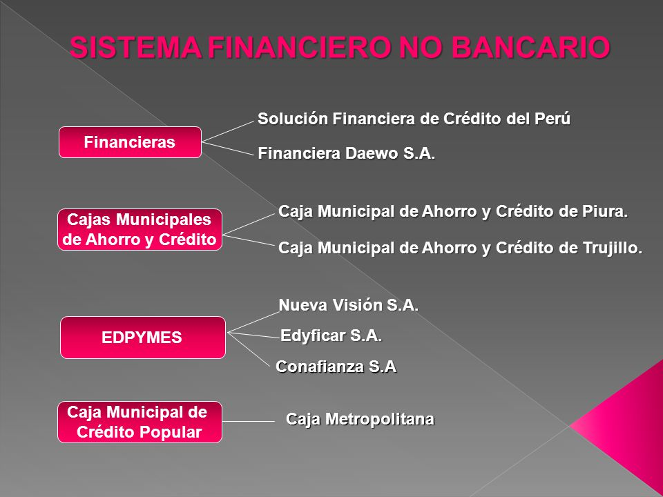 SISTEMA FINANCIERO NO BANCARIO