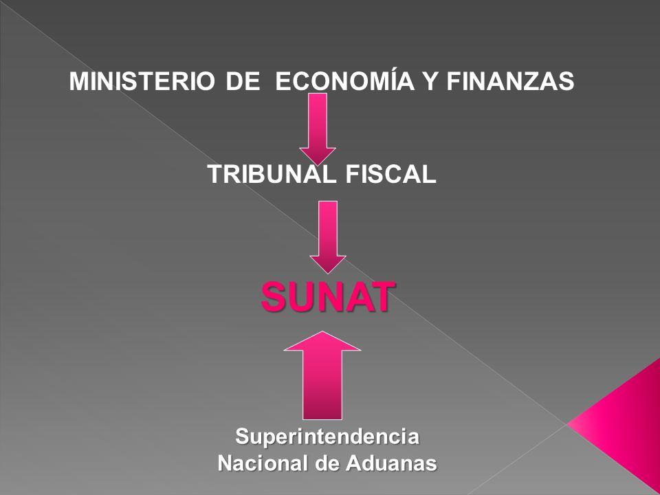 MINISTERIO DE ECONOMÍA Y FINANZAS Superintendencia Nacional de Aduanas