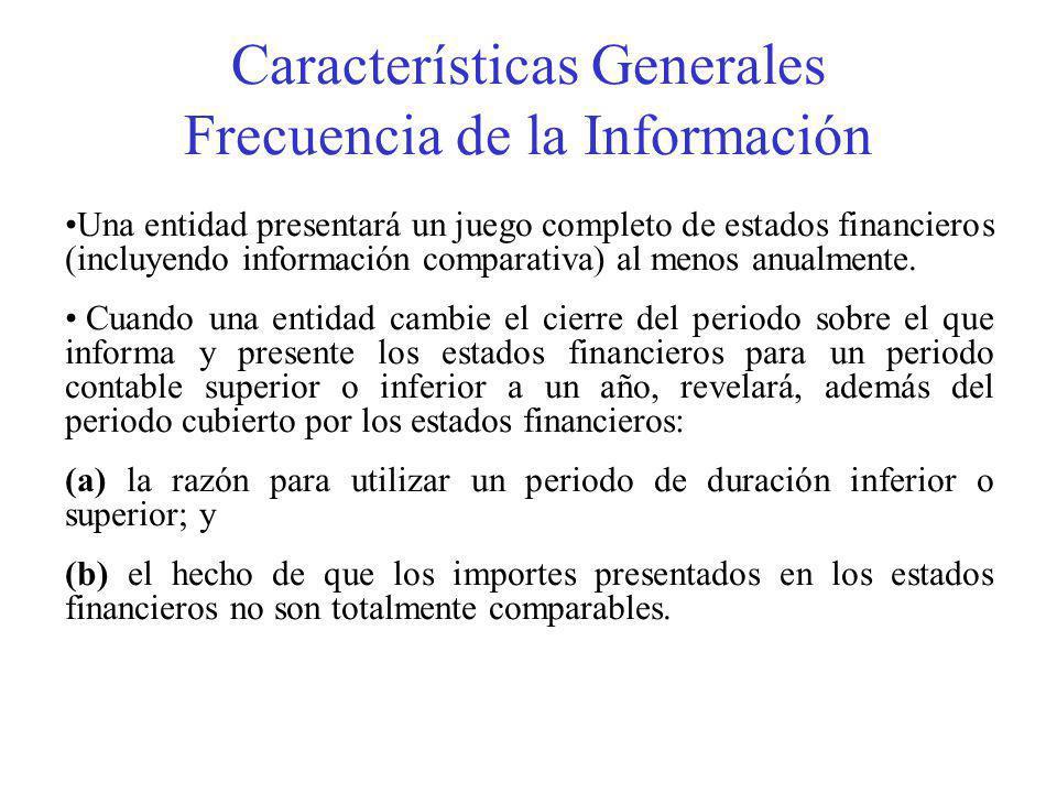 Características Generales Frecuencia de la Información