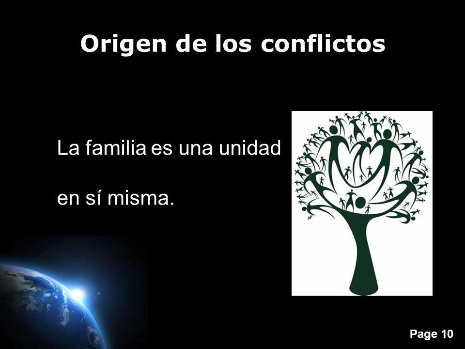 Origen de los conflictos