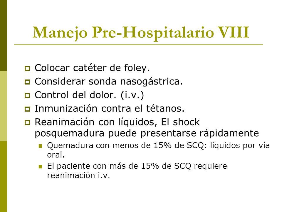 Manejo Pre-Hospitalario VIII