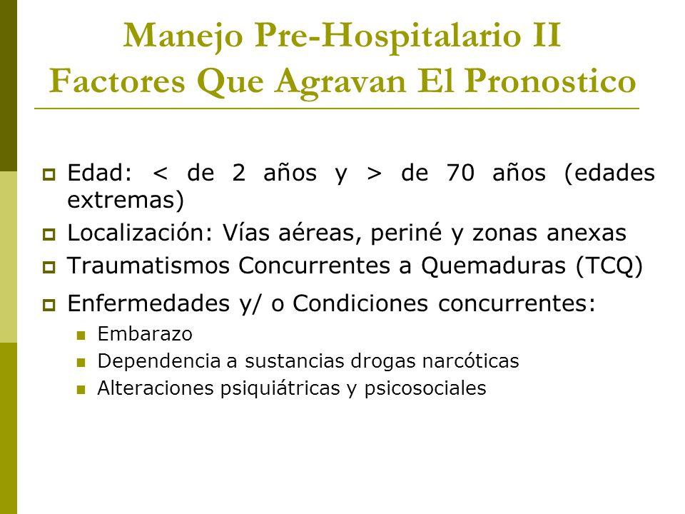 Manejo Pre-Hospitalario II Factores Que Agravan El Pronostico