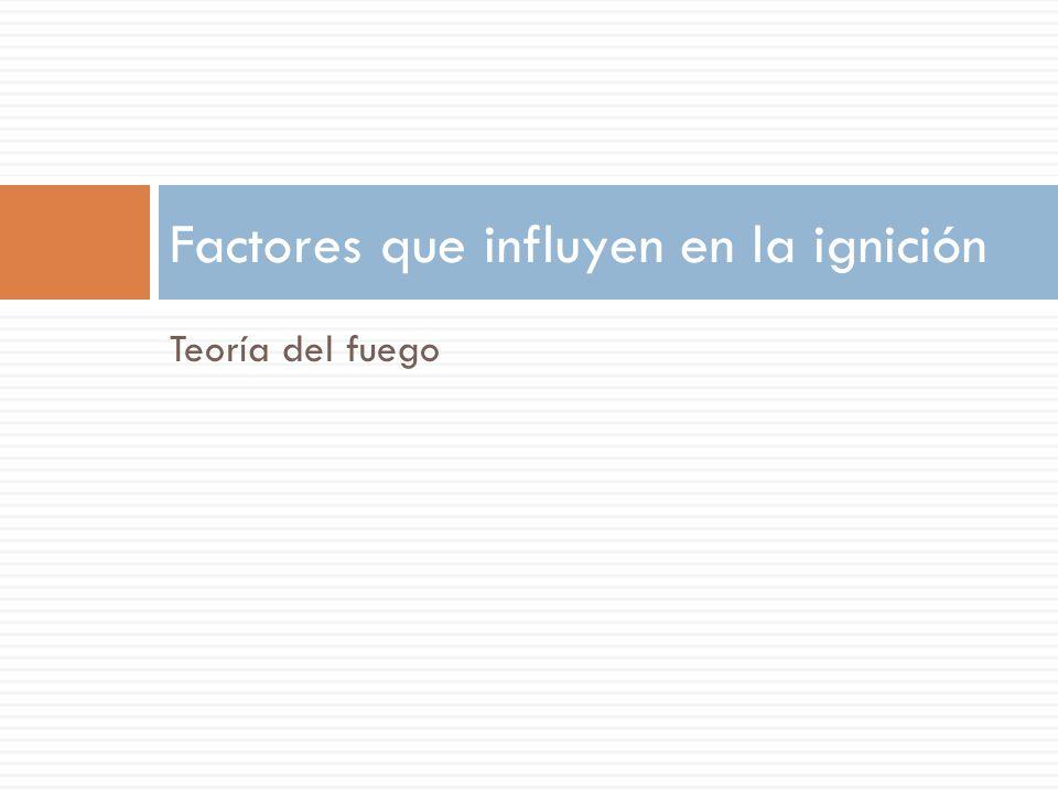Factores que influyen en la ignición