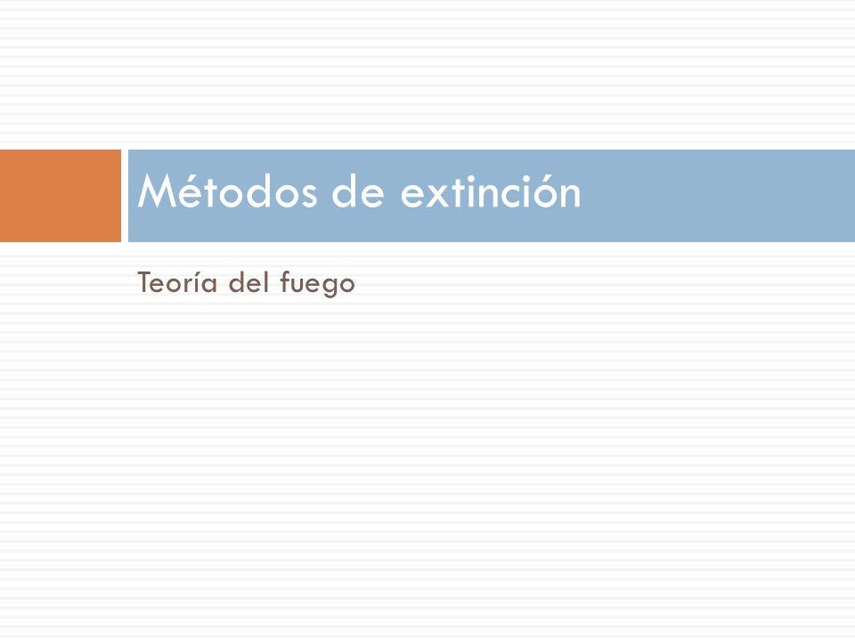 Métodos de extinción Teoría del fuego