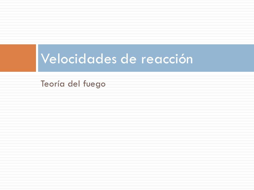 Velocidades de reacción