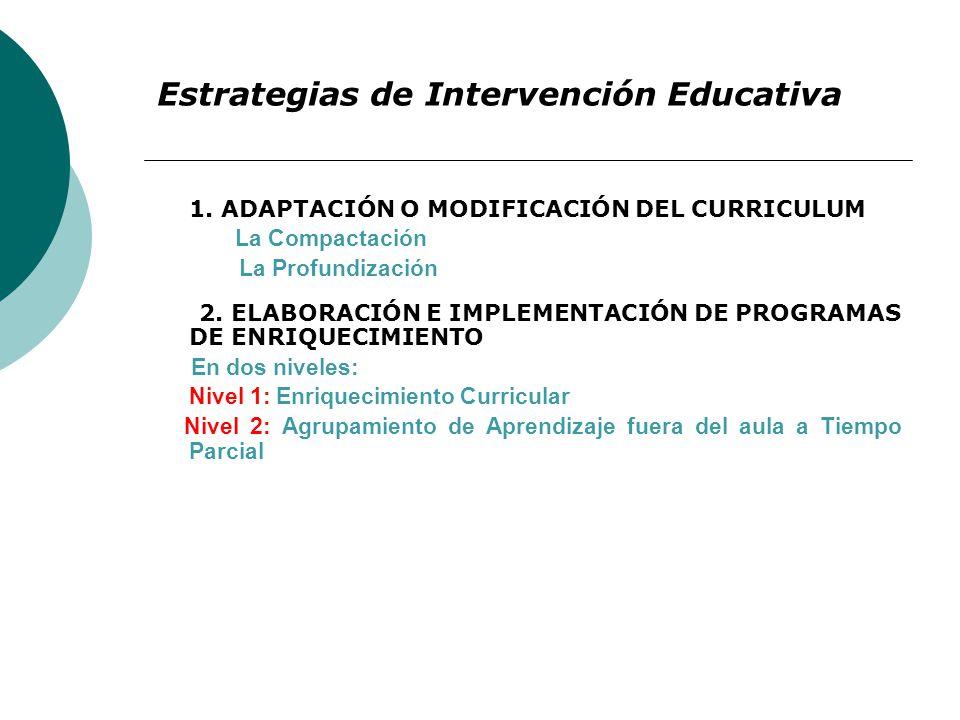 Estrategias de Intervención Educativa
