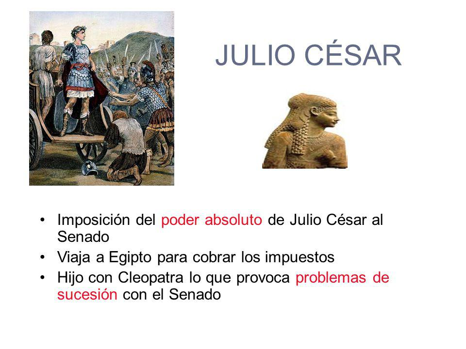 JULIO CÉSAR Imposición del poder absoluto de Julio César al Senado