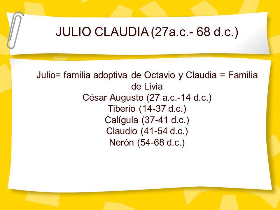 Julio= familia adoptiva de Octavio y Claudia = Familia de Livia