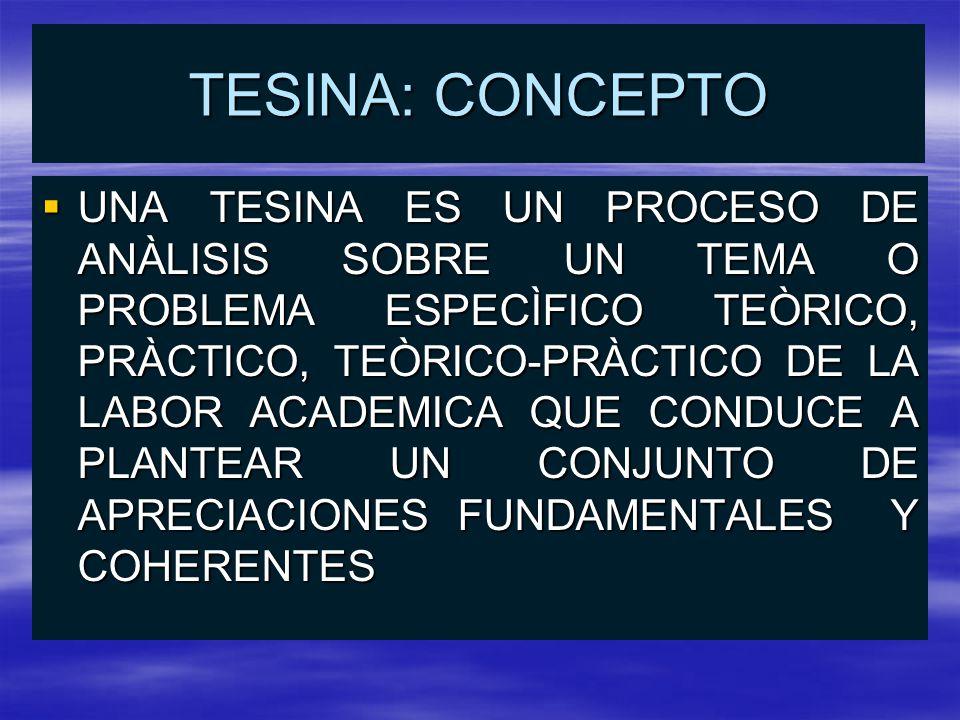 TESINA: CONCEPTO