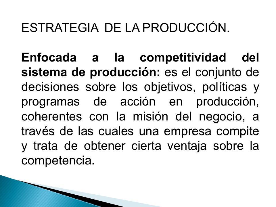 ESTRATEGIA DE LA PRODUCCIÓN.