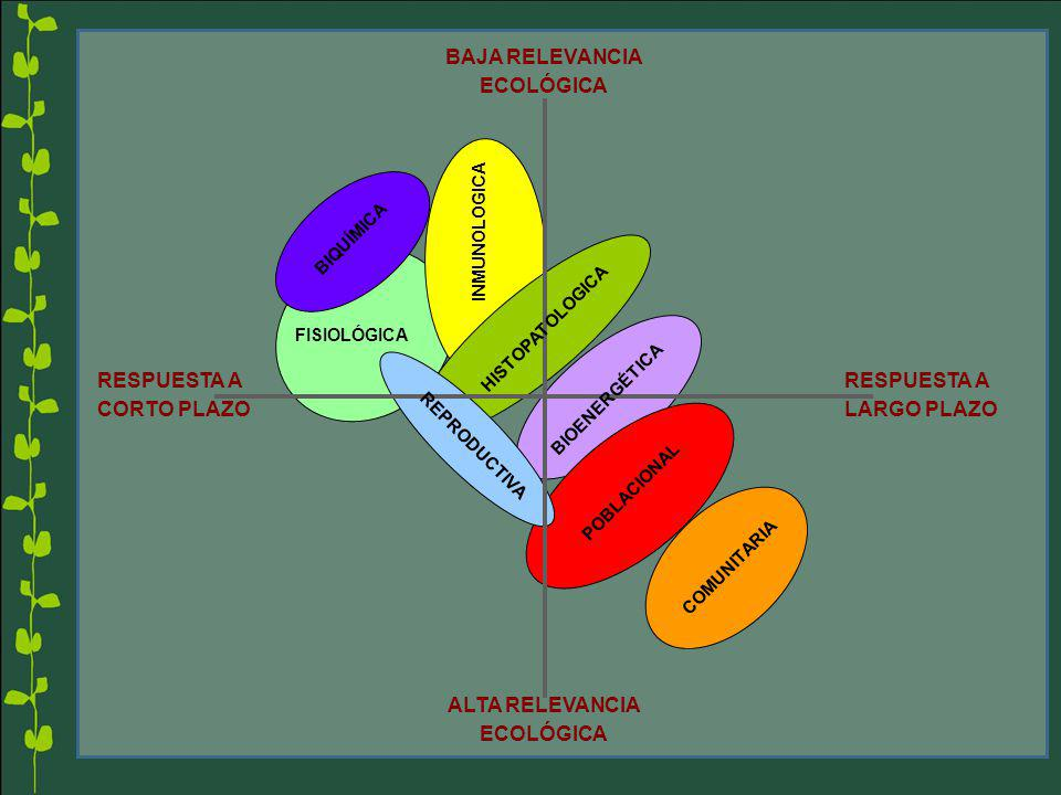 BAJA RELEVANCIA ECOLÓGICA ALTA RELEVANCIA ECOLÓGICA