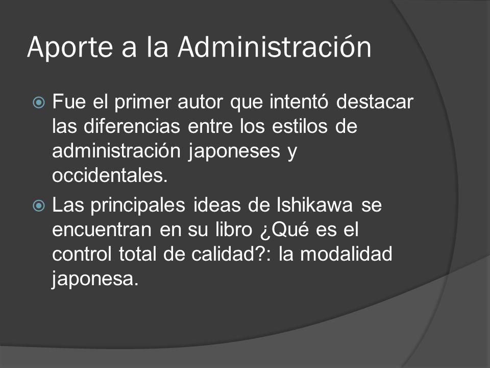 Aporte a la Administración