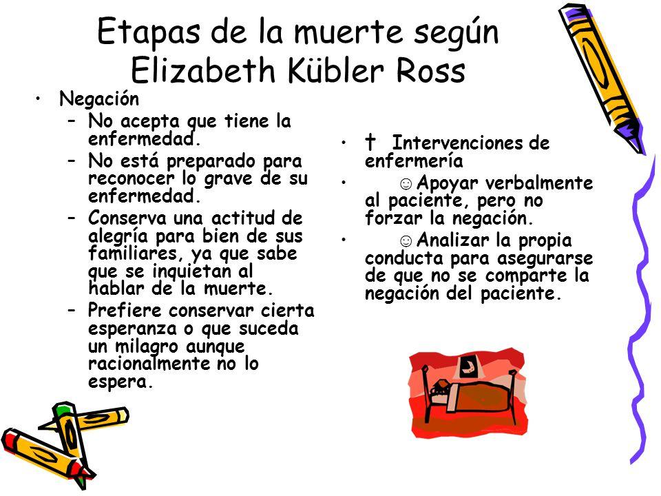 Etapas de la muerte según Elizabeth Kübler Ross