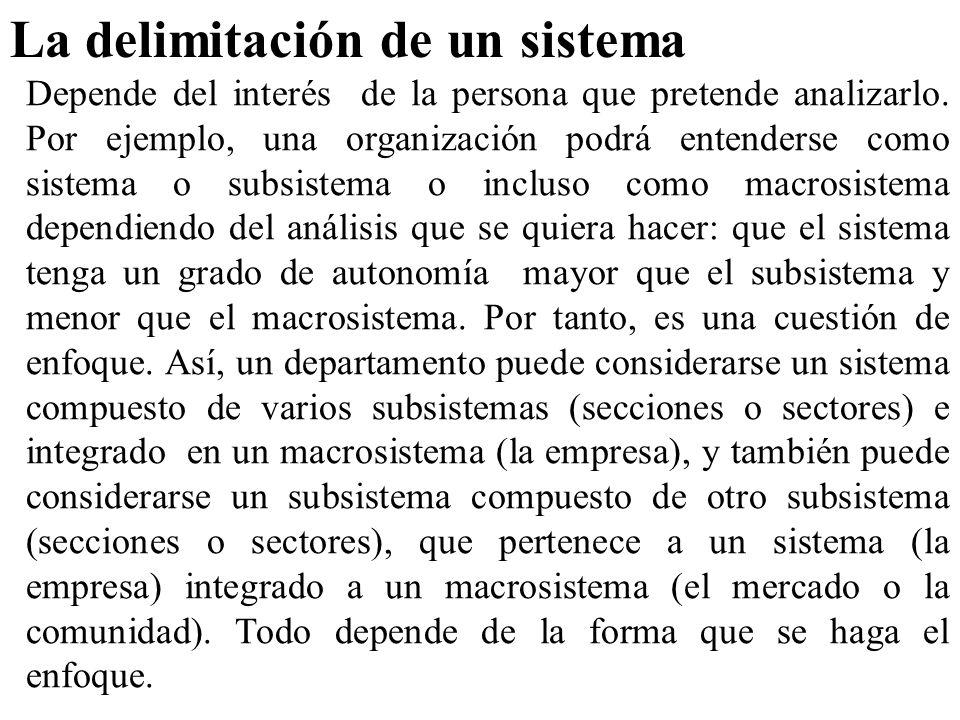 La delimitación de un sistema