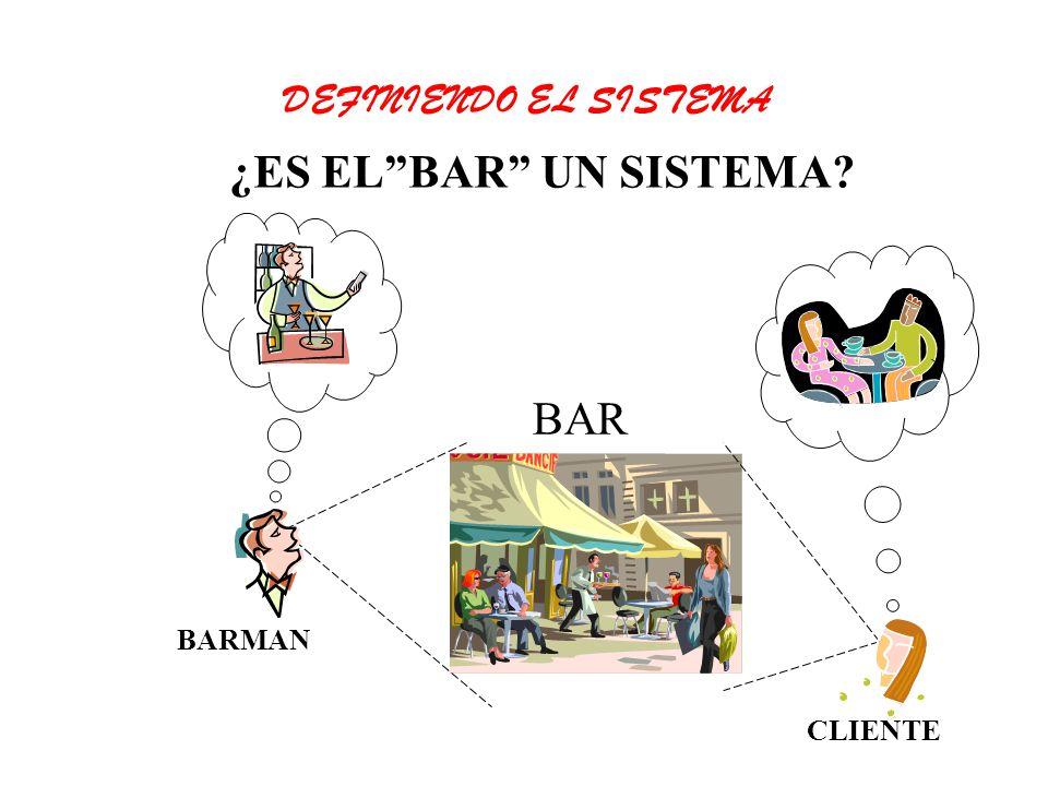 DEFINIENDO EL SISTEMA ¿ES EL BAR UN SISTEMA BAR BARMAN CLIENTE