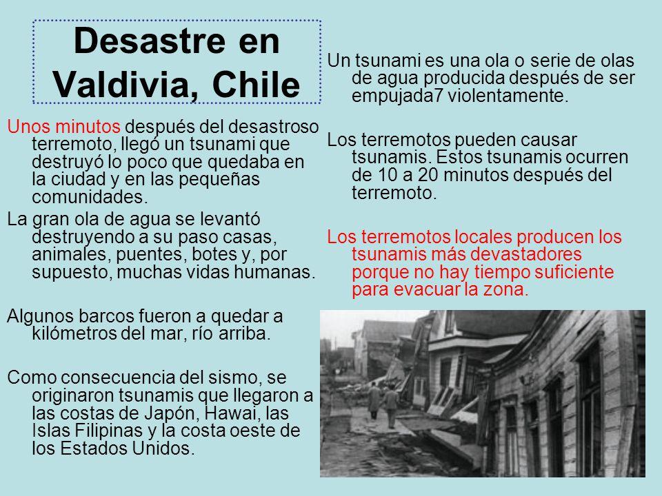 Desastre en Valdivia, Chile
