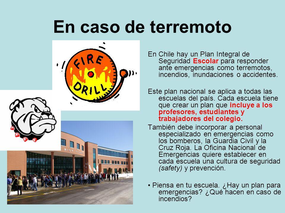 En caso de terremoto