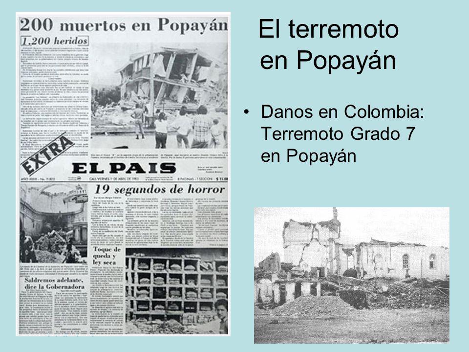 El terremoto en Popayán