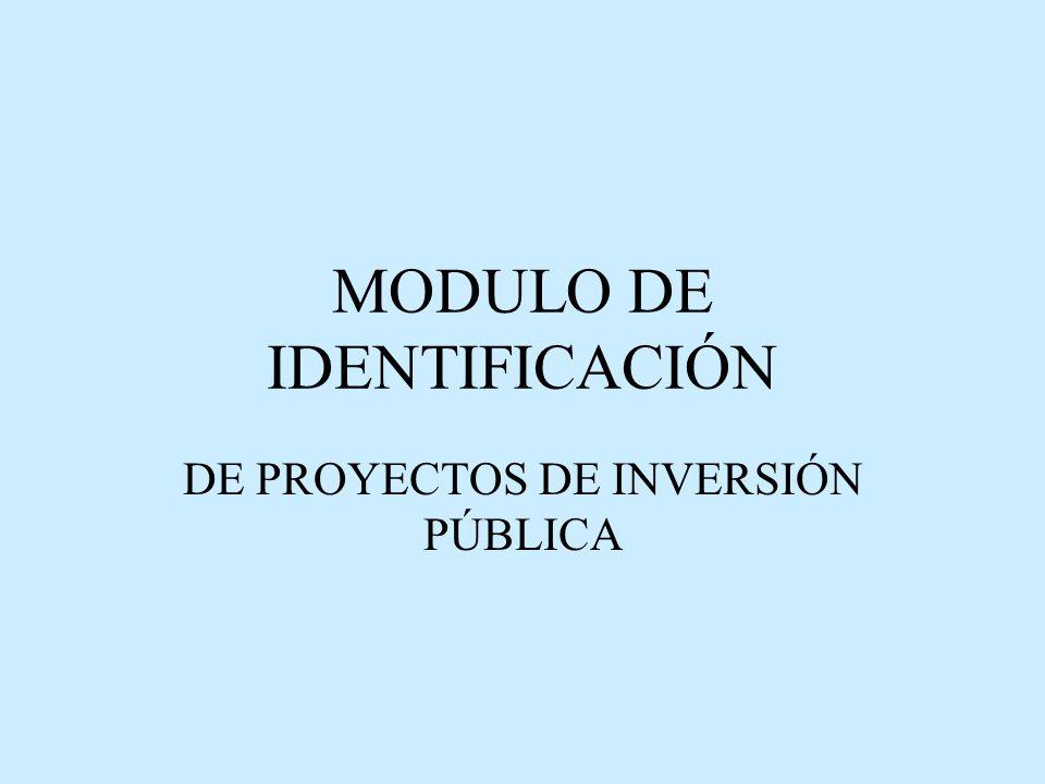 MODULO DE IDENTIFICACIÓN