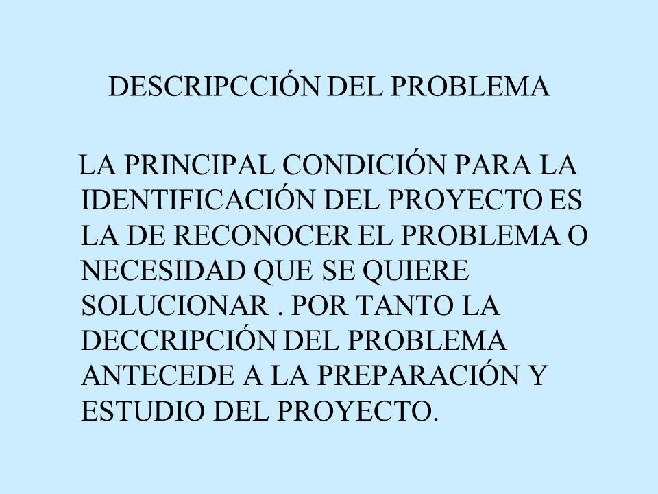 DESCRIPCCIÓN DEL PROBLEMA