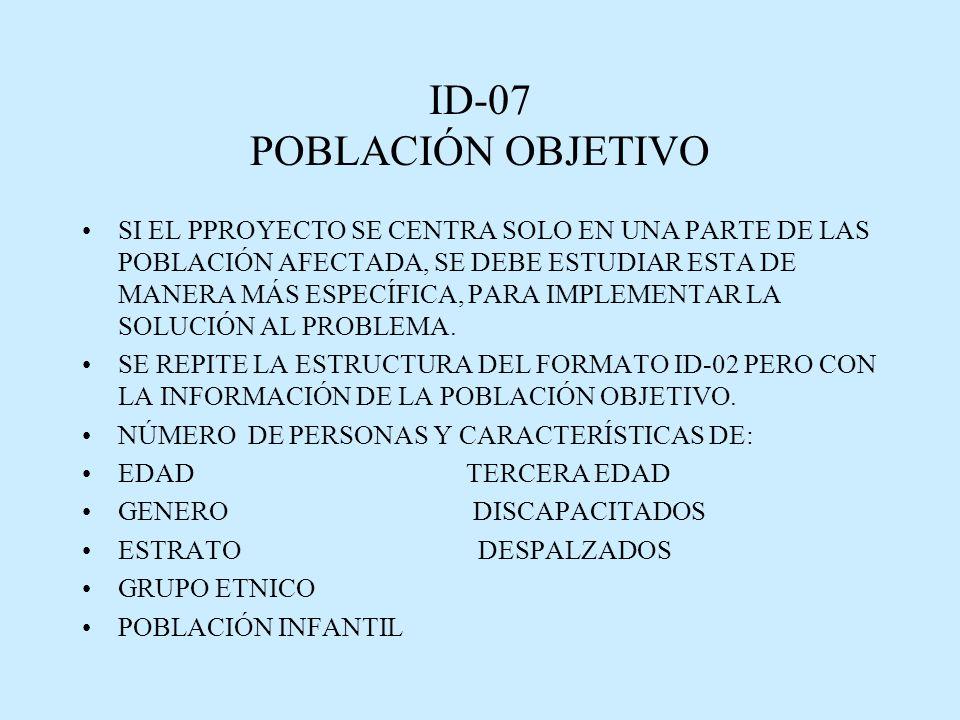 ID-07 POBLACIÓN OBJETIVO