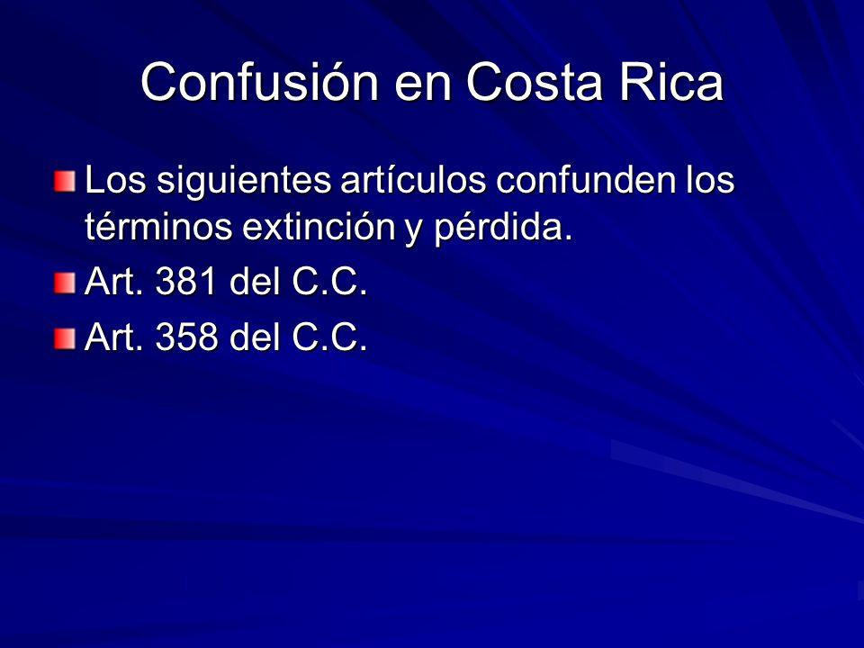 Confusión en Costa Rica