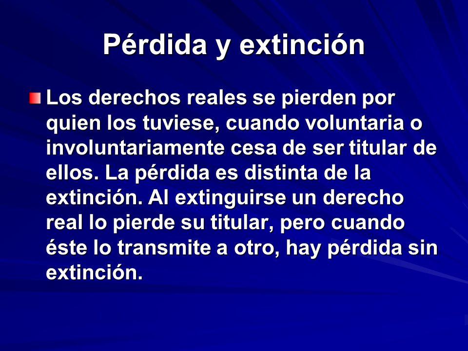 Pérdida y extinción