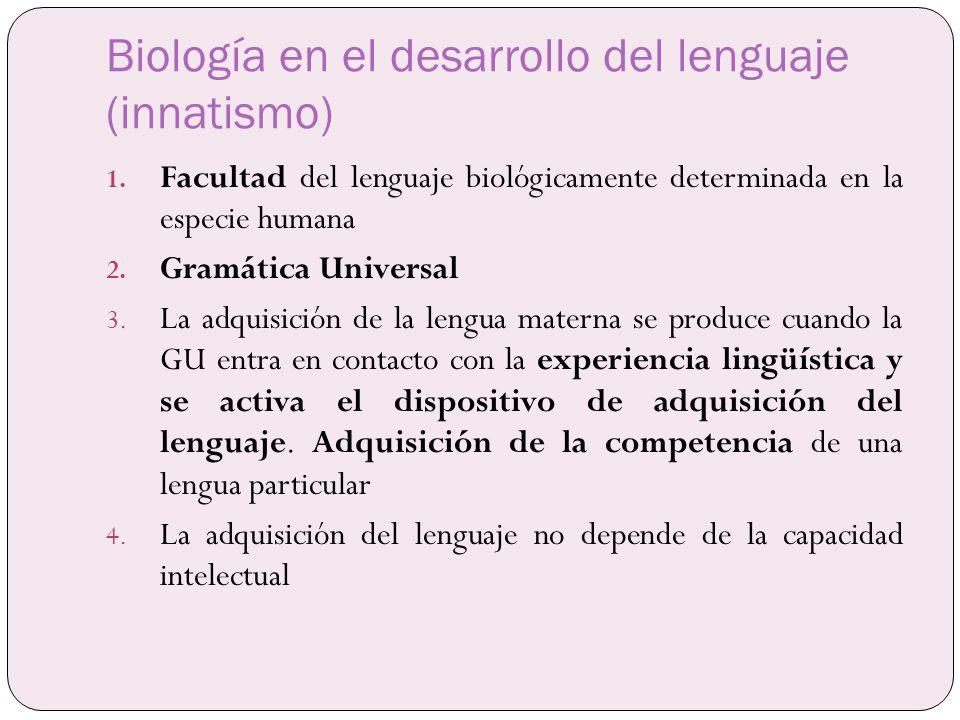 Biología en el desarrollo del lenguaje (innatismo)