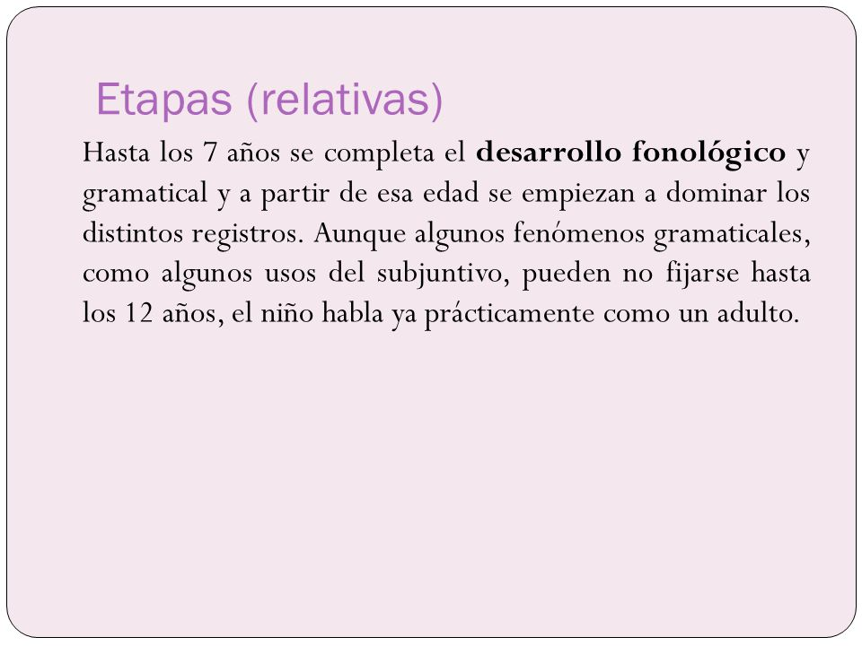 Etapas (relativas)