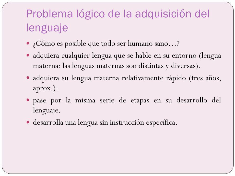 Problema lógico de la adquisición del lenguaje