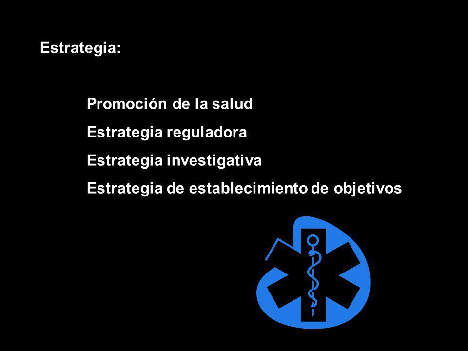 Estrategia: Promoción de la salud. Estrategia reguladora.