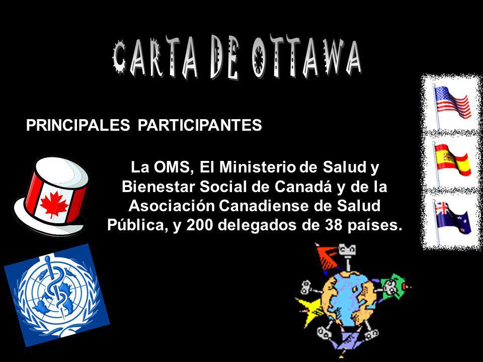 CARTA DE OTTAWA PRINCIPALES PARTICIPANTES