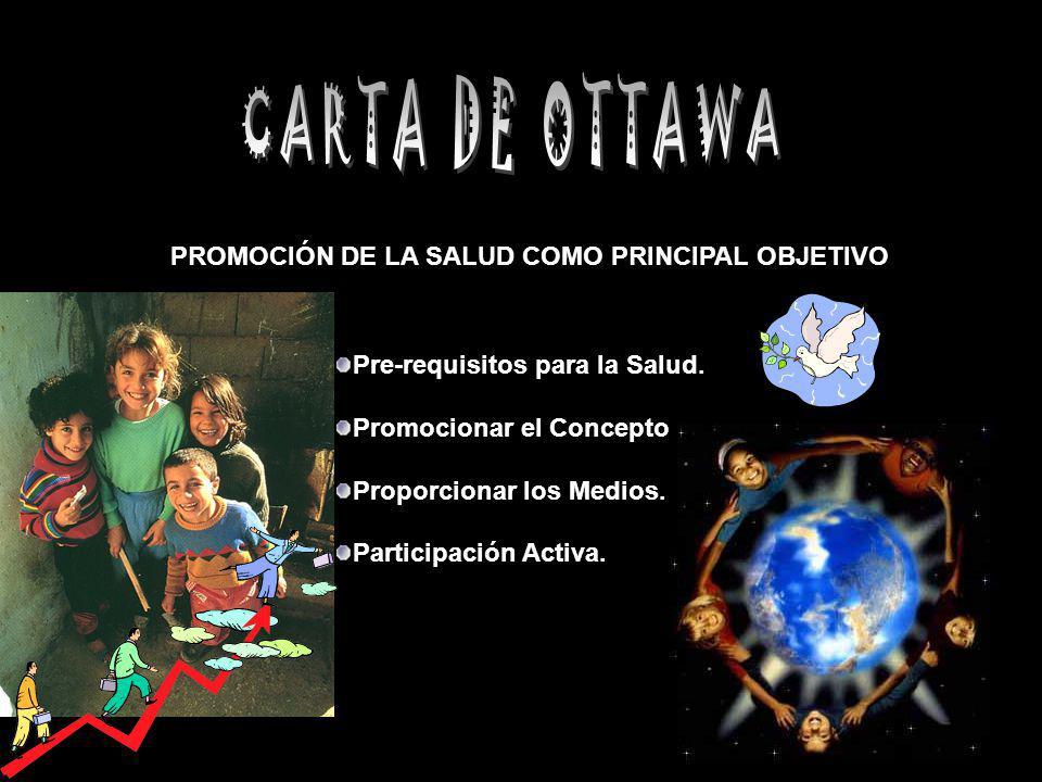 CARTA DE OTTAWA PROMOCIÓN DE LA SALUD COMO PRINCIPAL OBJETIVO