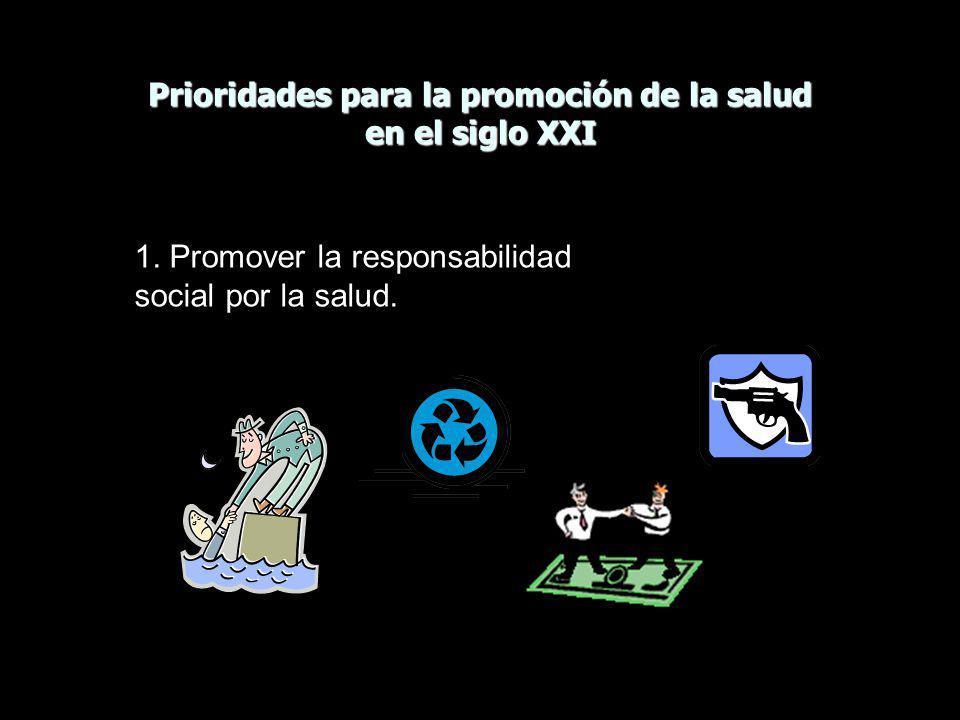 Prioridades para la promoción de la salud en el siglo XXI