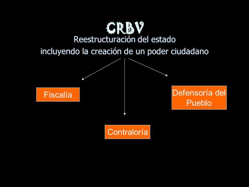 CRBV Reestructuración del estado