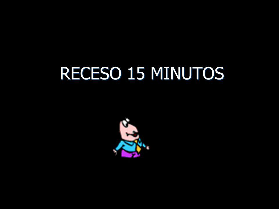 RECESO 15 MINUTOS
