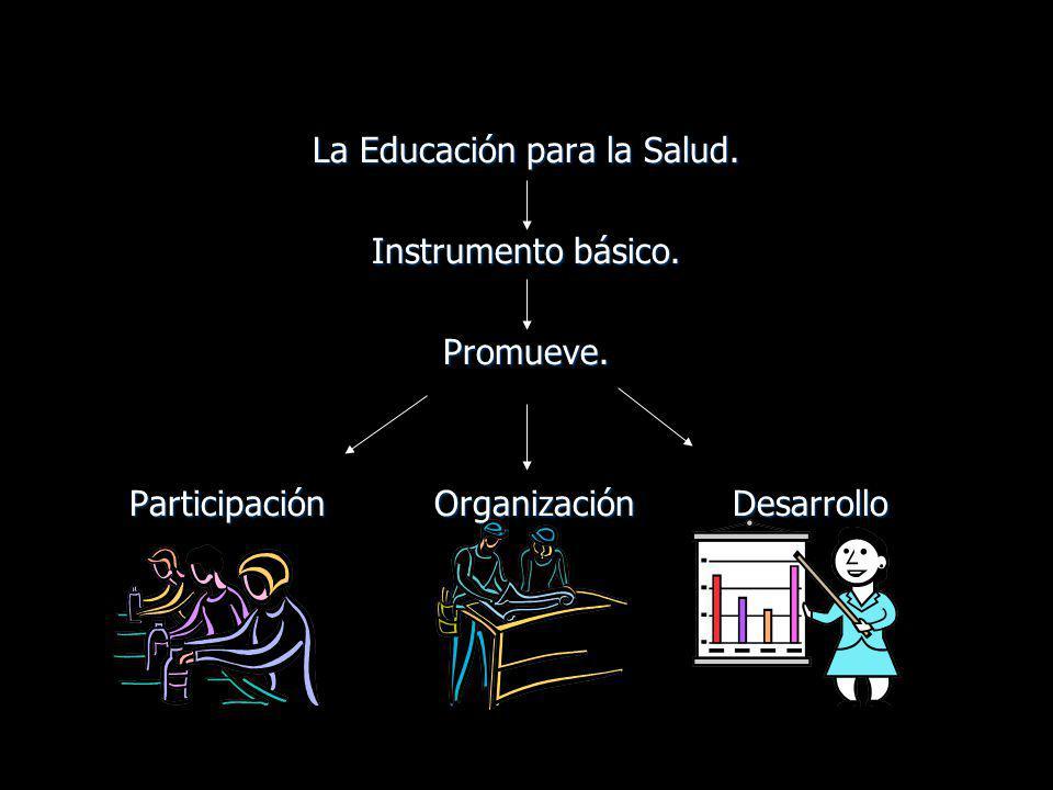 La Educación para la Salud.