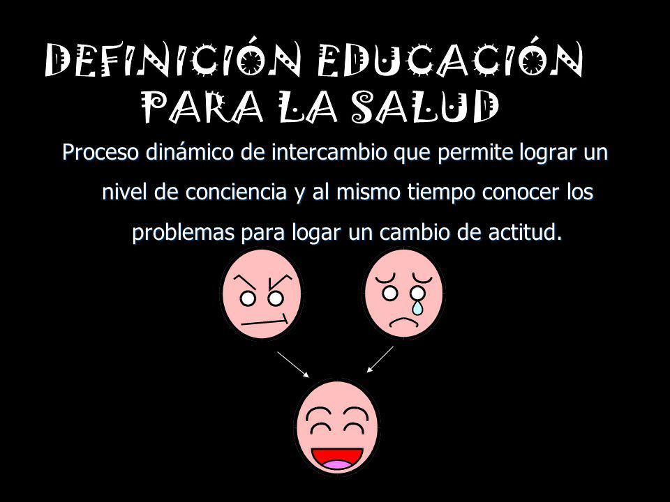 DEFINICIÓN EDUCACIÓN PARA LA SALUD