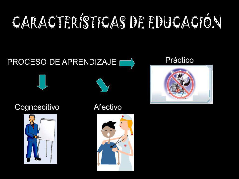 CARACTERÍSTICAS DE EDUCACIÓN